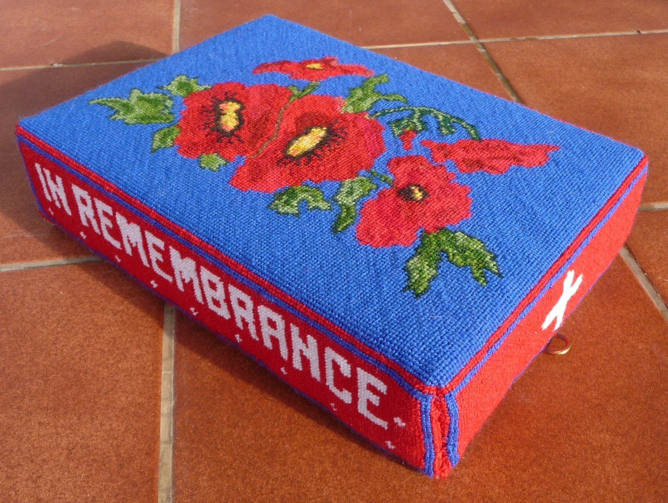 In remembrance – stitched by Patricia Valentine