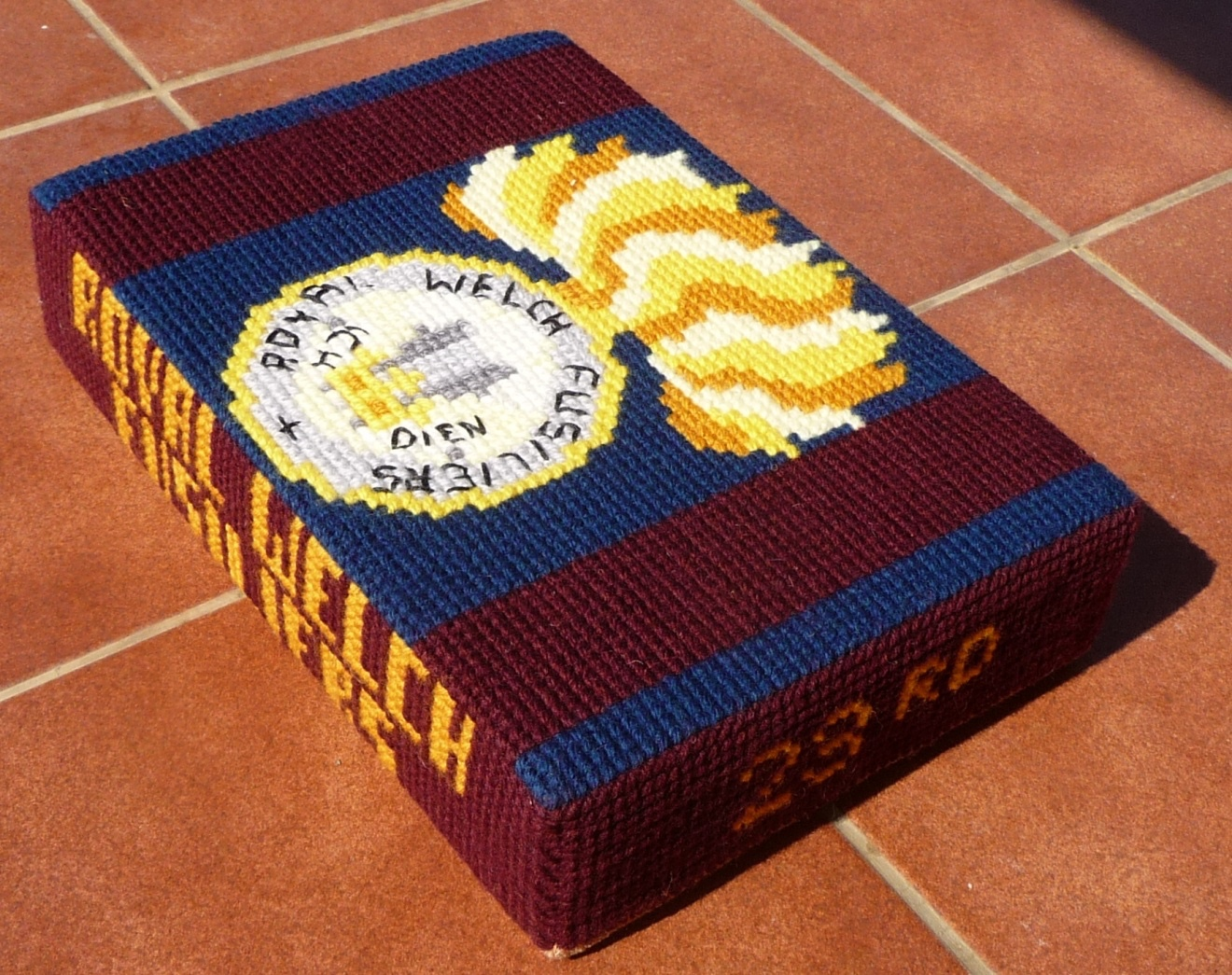 Royal Welch Fusiliers – stitched by Suzanne Brunt